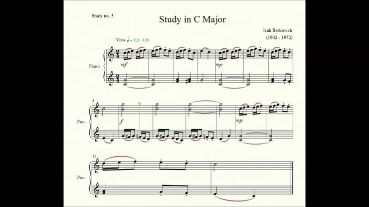 Study no. 5: Study in C Major - Isak Berkovich - Piano Studies/Etudes 2