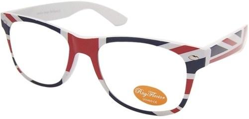 Union Jack Flag Pattern Wayfarer Style Geek Nerd Clear Lens Glasses Rayflector | eBay