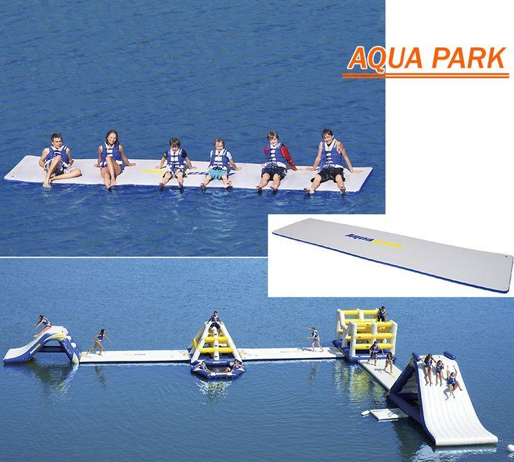 Aquaglide ウォーターパークシリーズにニューアイテムが登場。さらに楽しい水上公園を作ることが出来ます。滑り台にジャングルジム・トランポリンなど楽しみも多彩。インフレータブル(空気で膨らみます)なので子供も安心して遊べる。
