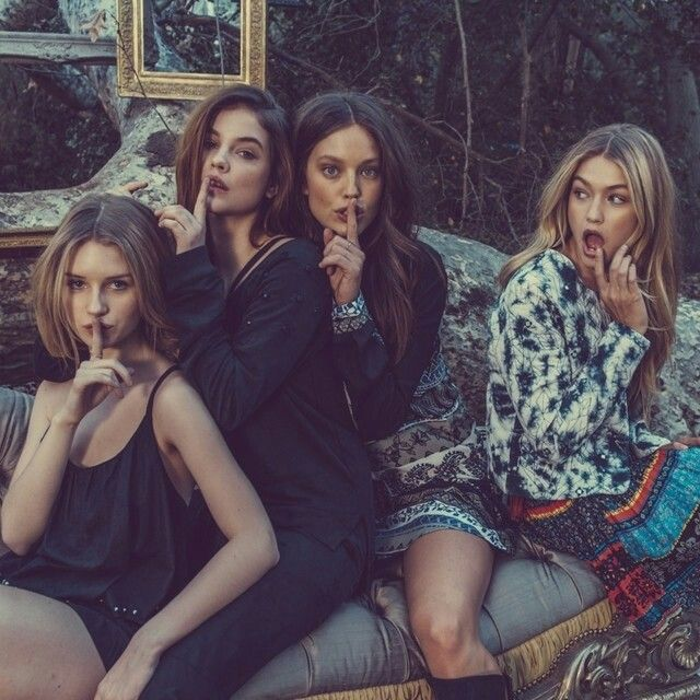 Lottie Moss, Barbra Palvin, Emily DiDonato and Gigi Hadid