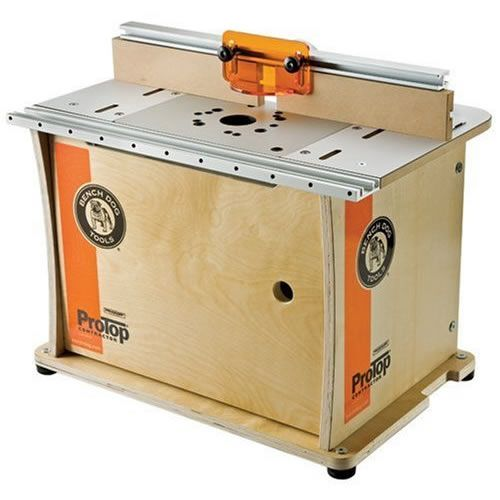 The Bench Dog 40-001 Router Table is the most robust job-site/benchtop router table with Bench Dog's unique dual position fence slots to maximize table top usability. It's got an indestructible  solid birch plywood cabinet base and comes with Bench Dog's excellent 22&qout; ProFence