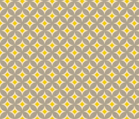 yellow and grey diamond_circles fabric by holli_zollinger on Spoonflower - custom fabric