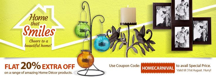 Get 20% off range of amazing home decor products @indiatimes .com Shopping by using coupon code from www.couponalbum.in/coupons/indiatimes-shopping/