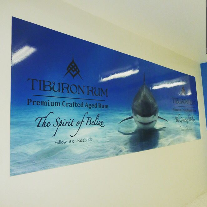 Our new ad at the Belize Int'l airport