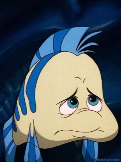 *FLOUNDER ~ The Little Mermaid, 1989... Sad Flounder ...