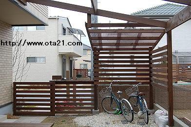 木製自転車置場 No.2 - デッキ工房オオタの仕事