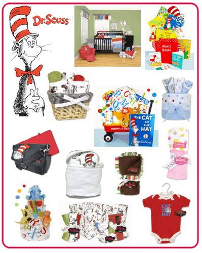 Dr. Seuss baby gifts for baby shower gifts!  http://www.storkbabygiftbaskets.com/dr-seuss-baby-gifts.html