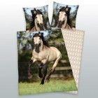 Dekbedovertrek Paard - wit