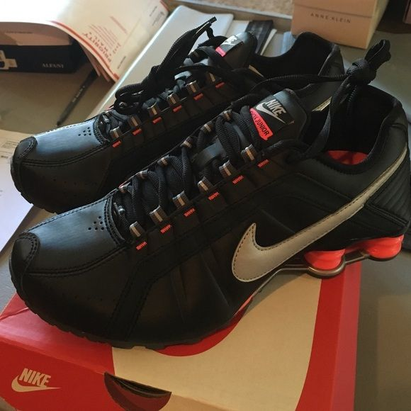 Brand new Nike shox  Brand new in box, Nike shox junior. Black and pink. Nike Shoes Sneakers