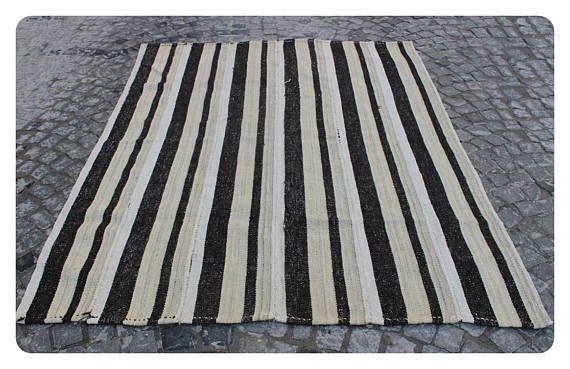 Turkısh Hemp,220x174cm,7'2x5'7 ft,Hemp rug,Turkish kilim,Kilim,Rugs,Turkish rug,Hemp,Kilims,Hemp rug,Turkish Kilim rug,White rug,847