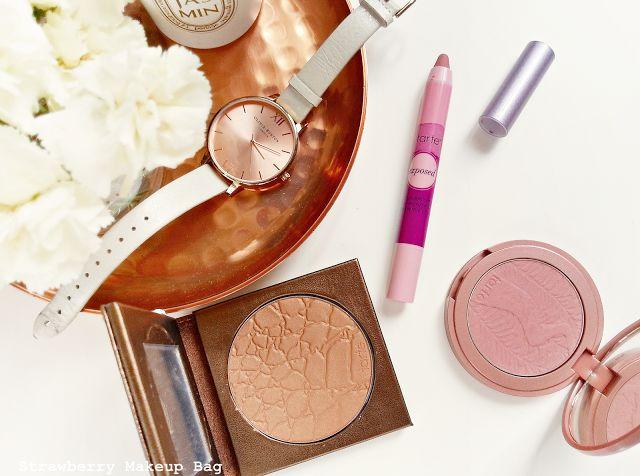 Strawberry Makeup bag: Tarte Summer Giveaway.