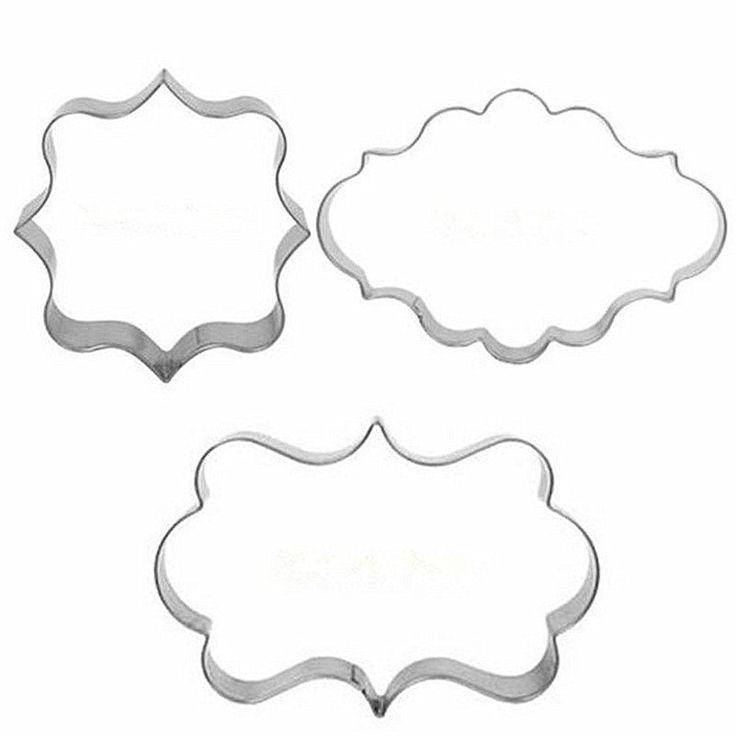 SAMGU Cookies Gebäck Fondant Kuchen Sugarcraft Formrahmen Scherblock Werkzeug Cutter Tool: Amazon.de: Küche & Haushalt