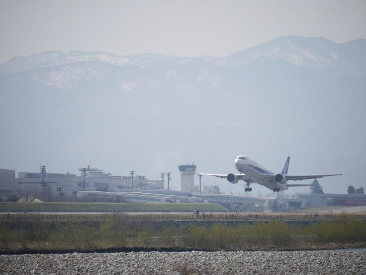 Just take off at Toyama airport