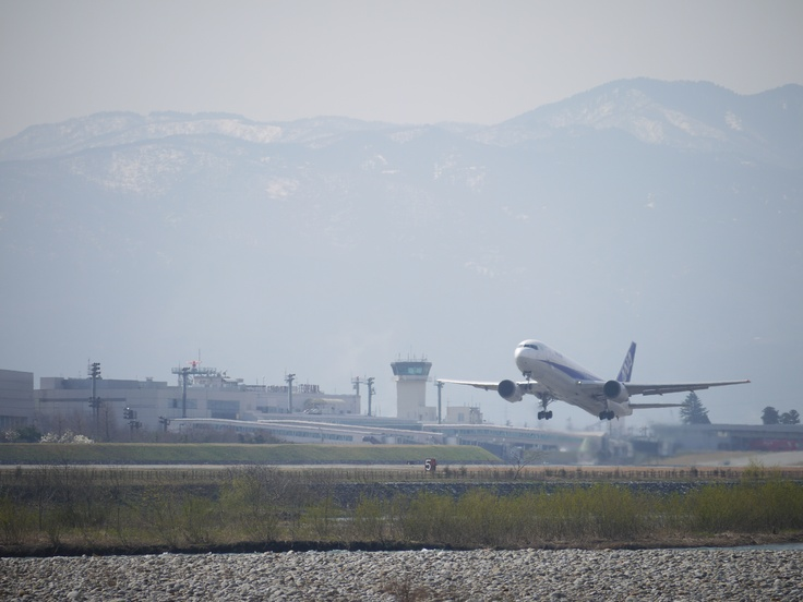 Just take off at Toyama airport