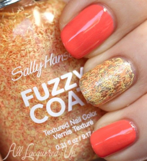 "Three Ways To Wear @Sally Hansen ""Fuzzy Coat"" Textured Nail Polish 