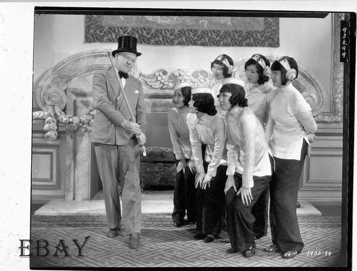 W.C. Fields Asian ladies Photo from Original Negative