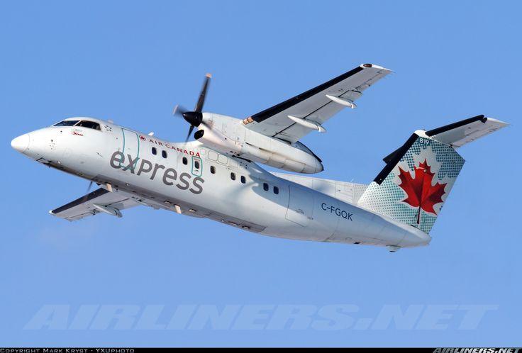 Air Canada Express (Jazz Air) De Havilland Canada DHC-8-102 Dash 8 London (YXU / CYXU) Canada - Ontario, February 7, 2014