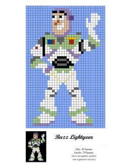 Buzz Lightyear - Toy Story - hama bead pattern