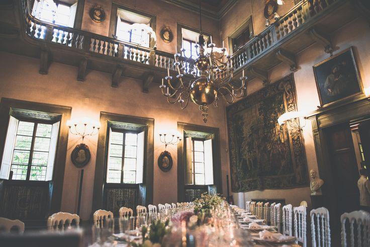 The dinner Sala inside the Villa