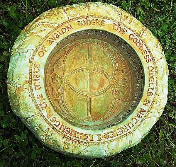 "Mists of Avalon Gazing Bowl-  ""Enter the Mists of Avalon where the Goddess dwells in nature.""     Jon and Ann Maglinte from Willits, Ca"