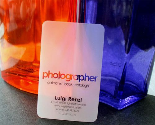 25 cartões de visita transparentes - Assuntos Criativos