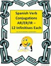 Spanish Verb Conjugations - 12 Present Tense Infinitives product from Sue-Summers on TeachersNotebook.com