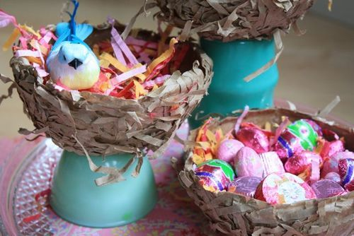 Paper Lunch Bag Nests | Yesterday On Tuesday