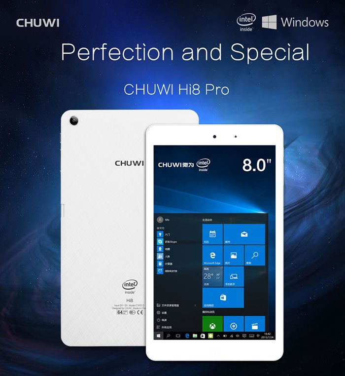 Chuwi Hi8 Pro, Special Offer from Dinodirect @ $99.99   http://www.mobilescoupons.com/gadgetsaccessories/chuwi-hi8-pro-special-offer-from-tinydeal