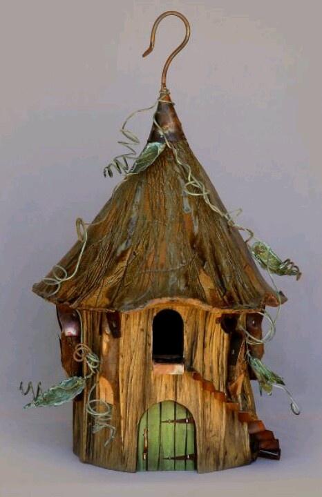 Pin von wendy auf bird homes pinterest rustikales holz for Gartendeko rustikal