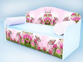 """Кровать диван """"Бабочка в розах"""""""