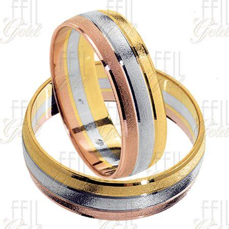 Többszínű arany karikagyűrű WTAu-214