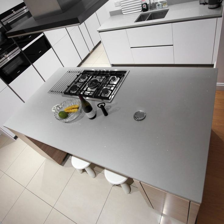 This is the Grigio De Lusso. A grey style version of our popular white quartz with small diamante flecks throughout. You can see the glisten from above!