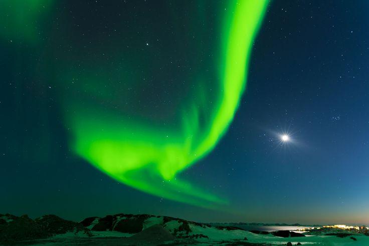 Nuuk, Greenland by night