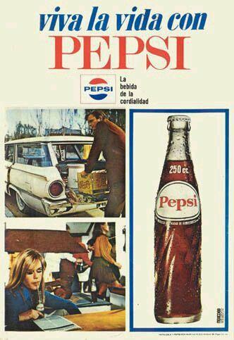 Carteles  antiguos de publicidad- Vive la vida con Pepsi