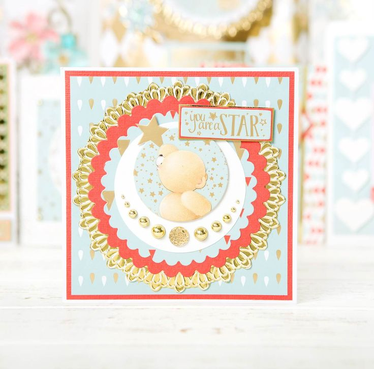 You are a Star! Handmade card from the @docrafts Forever Friends Collection. Click 'Visit Site' above to browse now. / cardmaking / papercraft / scrapbooking / craft