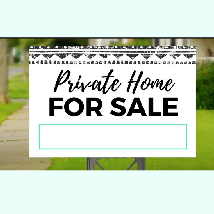 Private Home For Sale Yard Sign-7
