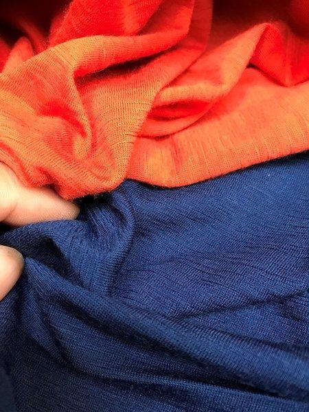Undertøjsuld - flot orange med struktur