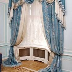 шторы на угловые окна фото