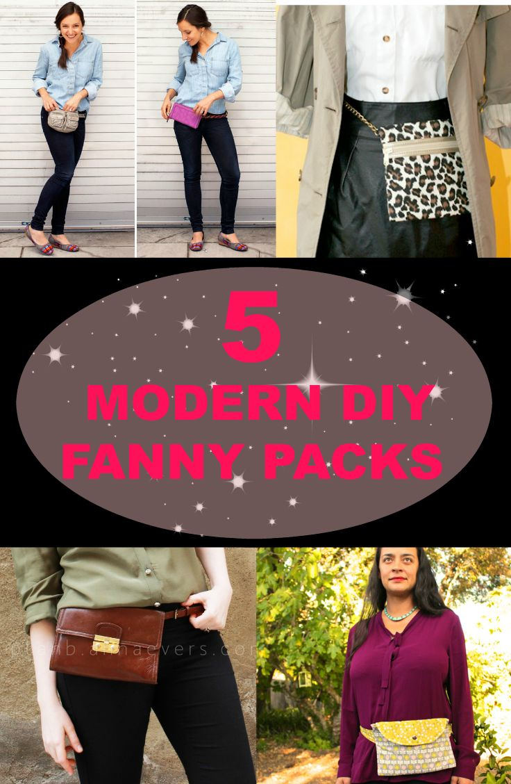 Fanny packs or belt bags are perfect when you are travelling.  Here are some modern DIY fanny pack ideas that are very edgy and chic. 1.  Turn a Clutch into a Chic Fanny Pack YOU WILL NEED: embroidery floss key chain piece of pleather purse with an adjustable strap clutch or large wallet belt fabric …