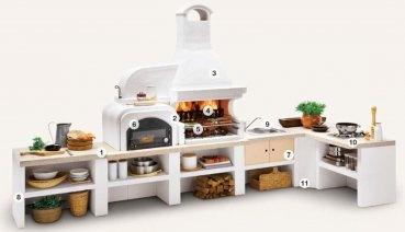 gartenküche palazzetti malibu mit opt. grill, pizzaofen & spüle, Garten und Bauen