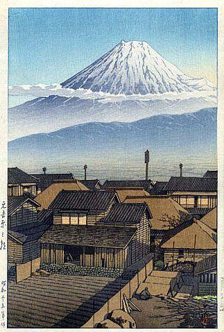 hanga gallery . . . torii gallery: Morning at Motoyoshiwara by Kawase Hasui