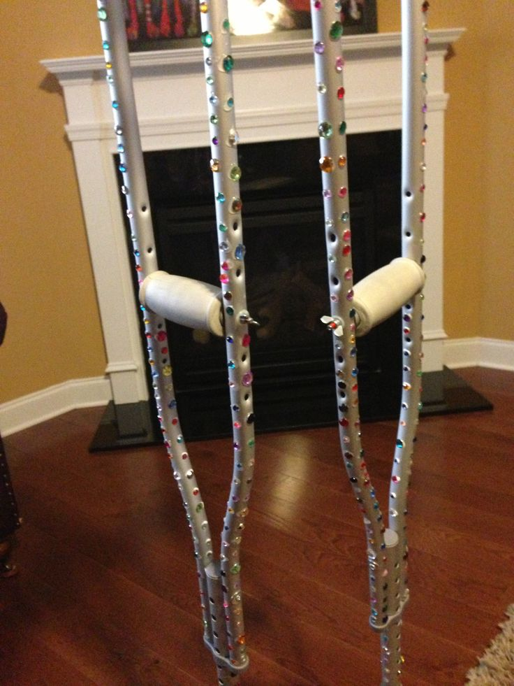 Crutches? Bling it on!