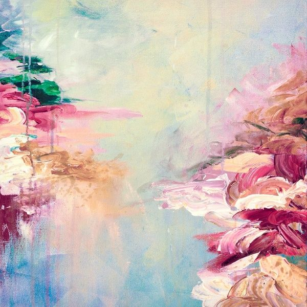 17 best ideas about abstract acrylic paintings on for Pastel teal paint
