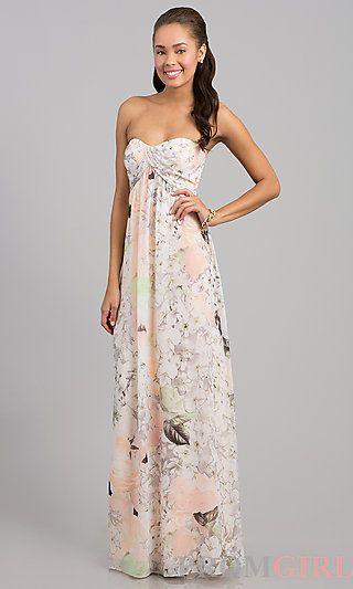Jessica Simpson Strapless Maxi Dress
