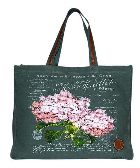 Le Papillon Black   Pink Flower Tote