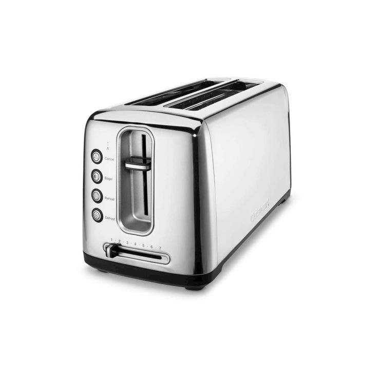 Cuisinart Dual Long Slot Artisan Bread Toaster - Stainless Steel Cpt-2400, Silver