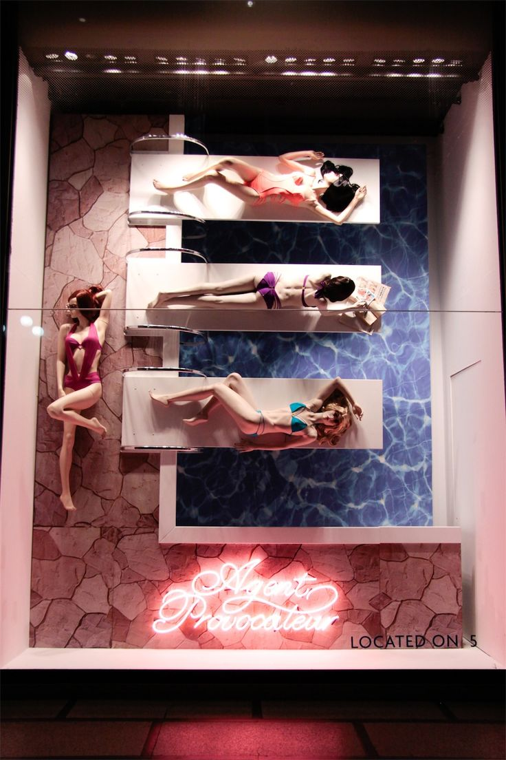 "La Rinascenta, Milan, Italy, presents: ""Agent Provocateur- Just another day at the pool"", pinned by Ton van der Veer"