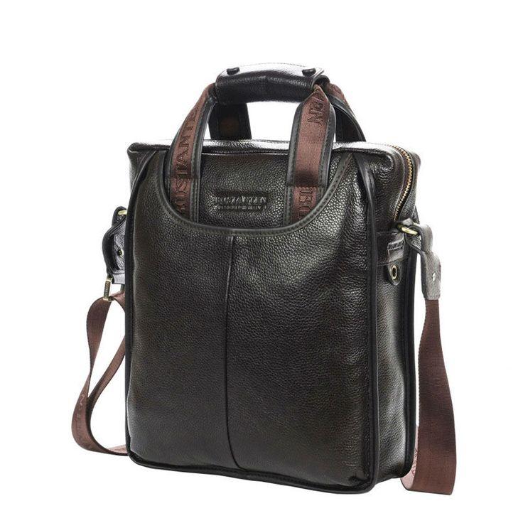 BOSTANTEN 100% Top GENUINE LEATHER Cowhide Shoulder Leisure Men's Bag Business Messenger Portable Briefcase Laptop Casual Purse -  http://mixre.com/bostanten-100-top-genuine-leather-cowhide-shoulder-leisure-mens-bag-business-messenger-portable-briefcase-laptop-casual-purse/  #Handbags