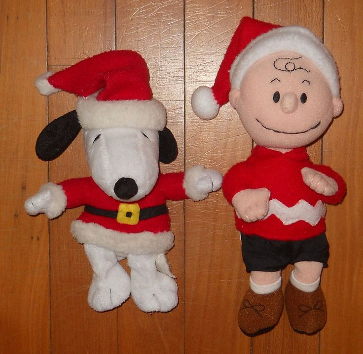 Snoopy Peanuts Charlie Brown Christmas Plush Stuffed Toys