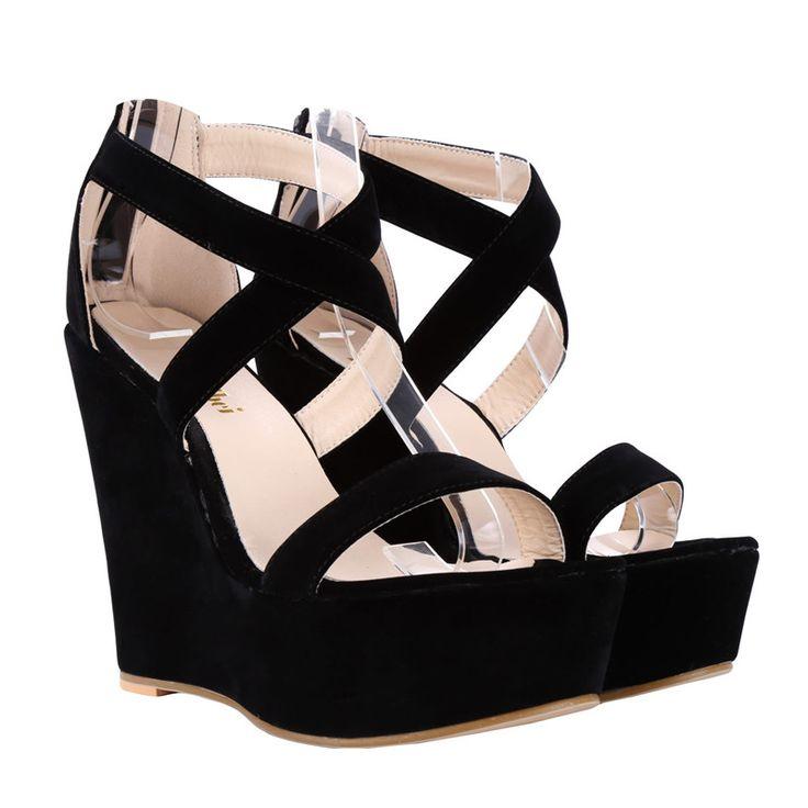 Loslandifen гладиатор женщины сандалии платформы высокие каблуки 14 см клинья сандалии сексуальные открытым носком летние случайные красные свадебные туфли женщина купить на AliExpress